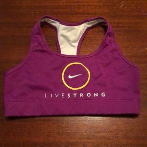 Nike Live Strong sports bra